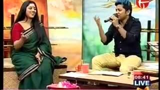 gourab sarkar singing diwana hua badal in aakash 8  good morning aakash