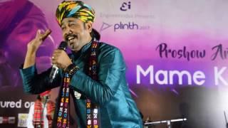 mame khan   chaudhary   live performance at plinth  lnmiit jaipur