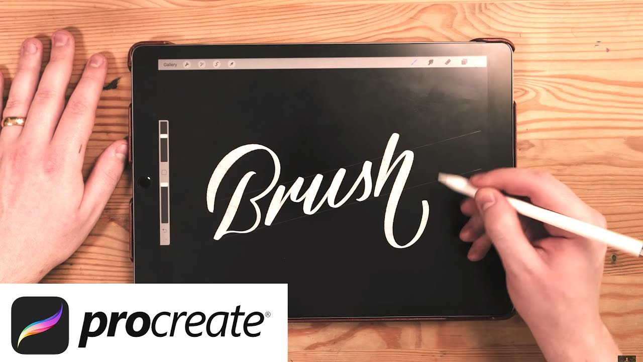 iPad Pro 2 (2017) 🖌 Procreate Lettering Brush Tutorial