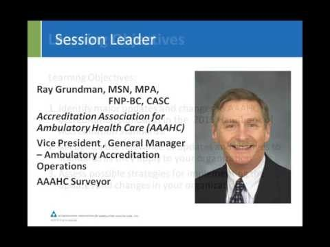 AAAHC Accreditation Standards Updates for 2015
