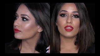Makeup Tutorial - MAC Warm Neutral Palette & MAC Russian Red Lipstick
