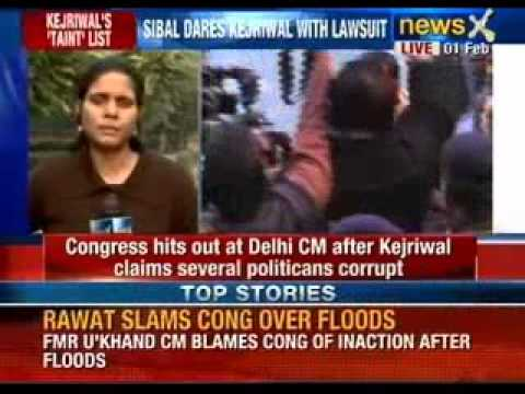 NewsX: Kapil Sibal slams Arvind Kejriwal, says prove corruption charges against me or quit