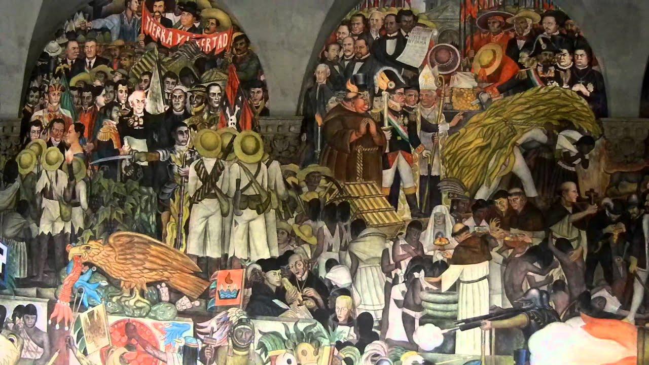 Explicacion mural del palacio nacional youtube for Diego rivera mural palacio nacional
