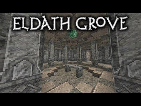 Minecraft: Eldath Grove - Ep5 Druids Cave Part1/2 (Let's Build)