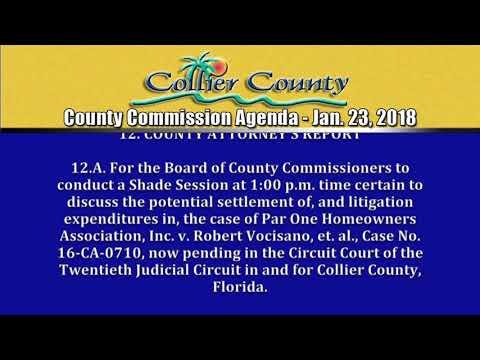 Collier County Commission Agenda 1-23-18