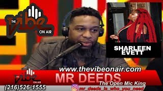 THE VIBE ON AIR LIVE!  04/25/2019  with guest SHARLEEN EVETT