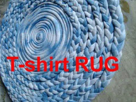 Reuse Old T Shirt To Make Rug Carpet Table Mat Coaster