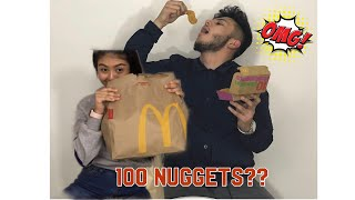 100 Chicken Nuggets Challenge !!!! | Analex Vlogs