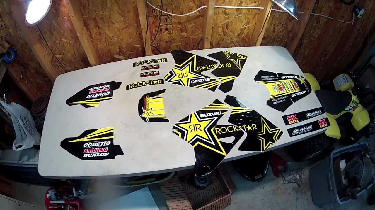Rockstar Graphics Kit Suzuki Drz 400 And My New Gopro