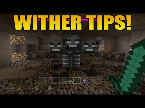 ★Minecraft Xbox 360 & PS3 Wither Boss Tips & Tricks Disable Wither Movement Easy Guide★
