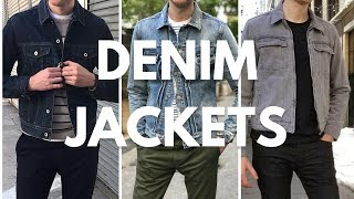 Men's Denim/Jean Jacket Lookbook - How To Wear & Style