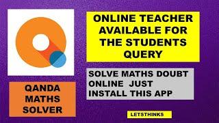 Qanda Maths Solver App Part-2 Complete Detail of the app #letsthinks #QandAmathsolver screenshot 5