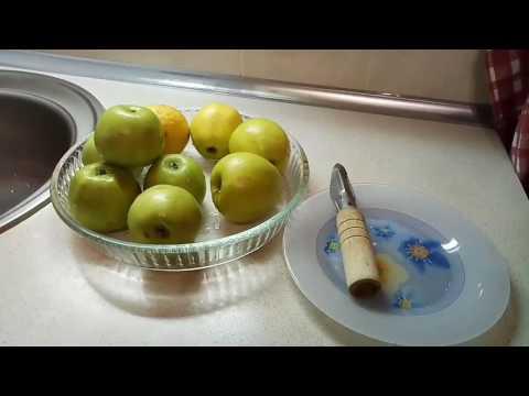 Как запечь яблоки.
