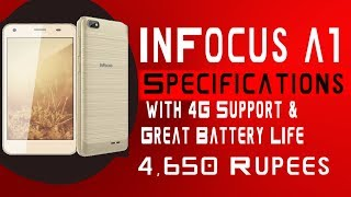 Infocus A1 Specifications and Price | Infocus A1 Low Budget VOLTE & 4G Phone