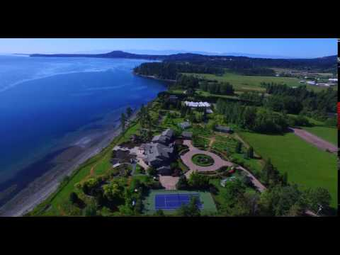 Saanich BC, house and garden with views in 4K