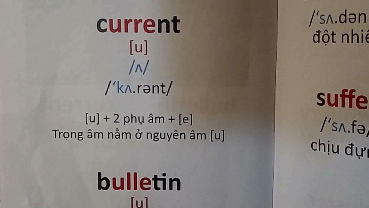 Đánh vần tiếng anh học cùng con, tập 5, bài 25: Trọng âm từ chứa [u + 2 phụ âm + e]?