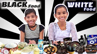 WHITE VS BLACK FOOD CHALLENGE  Funny Food Challenge by#foodiechallenge#