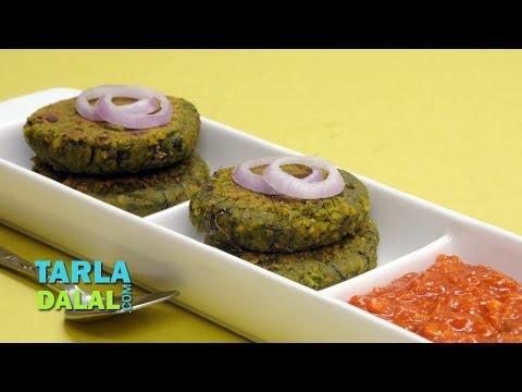 पालक और चना के कबाब (Spinach and Chana Kebab) by Tarla Dalal