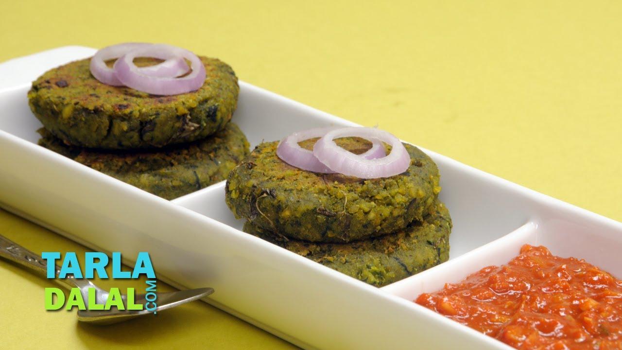 spinach and chana kebab by spinach and chana kebab by tarla dalal youtube forumfinder Images