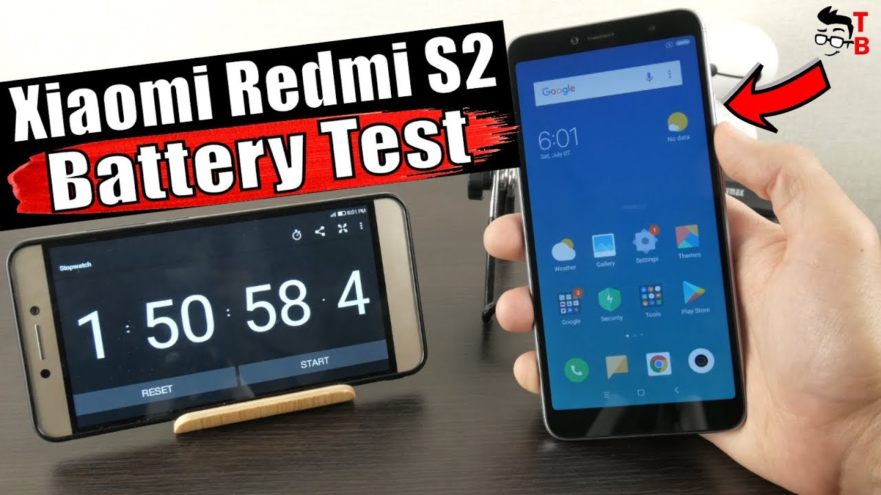 Xiaomi Redmi S2 - Battery Drain Test & Charging Time