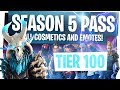 Download ALL NEW FORTNITE SEASON 5 BATTLE PASS REWARDS & CHALLENGES! - UNLOCKING TIER 100 & LIVE REACTION!