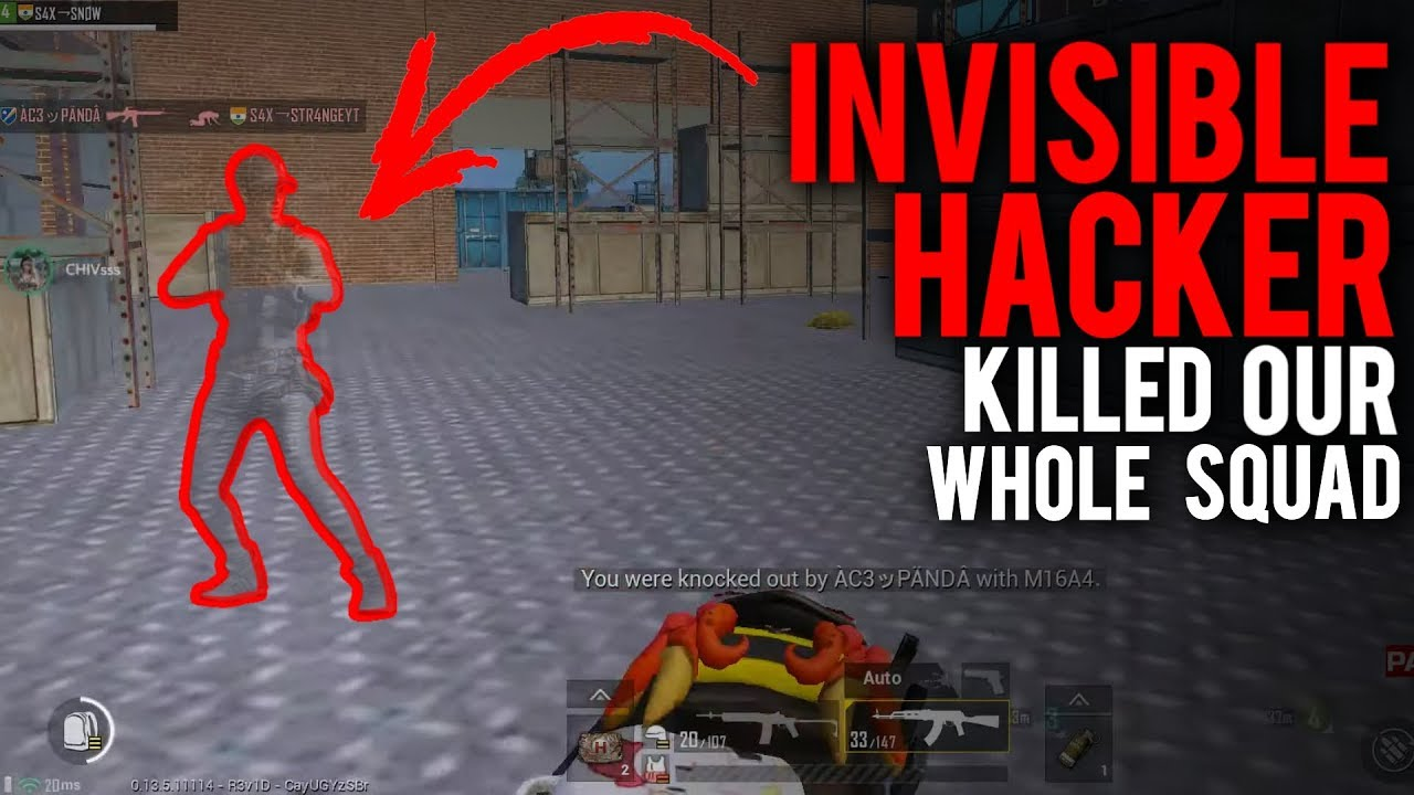 INVISIBLE HACKER KILLED OUR WHOLE SQUAD | NEW HACKS? | PUBG MOBILE HACKER