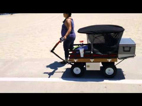 Cartwheels Wagon @ the Beach - YouTube