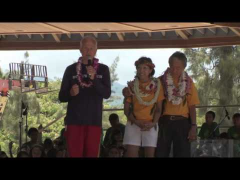 Ukulele Festival Hawaii 2013 -- Honolulu Mayor Kirk Caldwell
