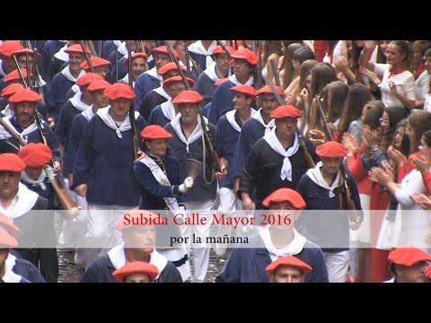 Subida Calle Mayor Alarde Hondarribia 2016 (por la mañana)   Txingudi Online