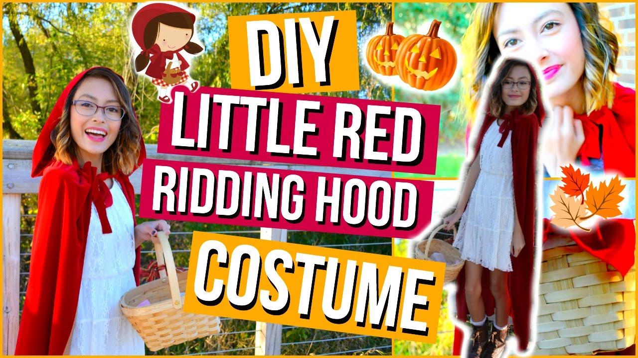 Diy Little Red Riding Hood Halloween Costume Makeup Mish