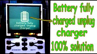 samsung 1200y battery fully charged problem solution 100% working