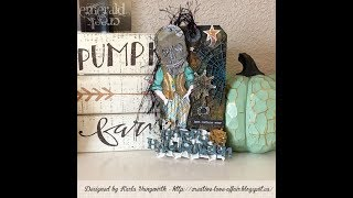 Emerald Creek Craft Supplies - Spooky Tag Tutorial