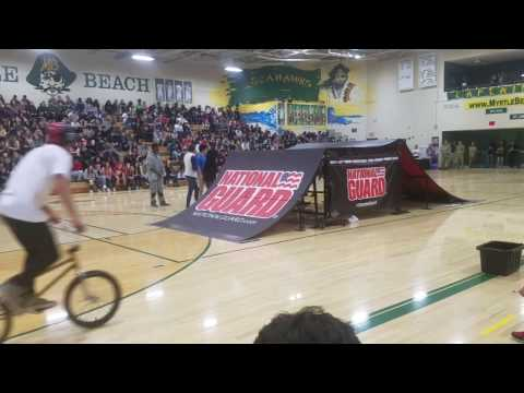 Myrtle Beach High School - BmX Bike Show National Guard AGA 2017