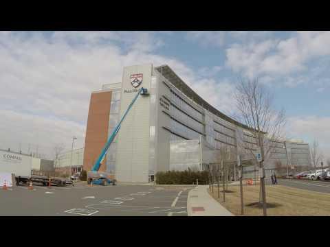 Penn Medicine Shield Installation