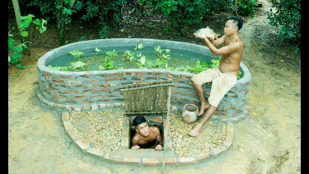 Build Fish Pond On home Underground-Part 2