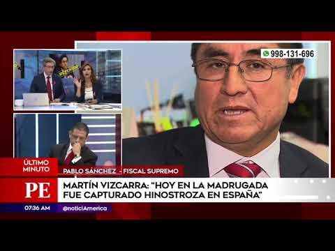 Pablo Sánchez confirma detención de César Hinostroza en España