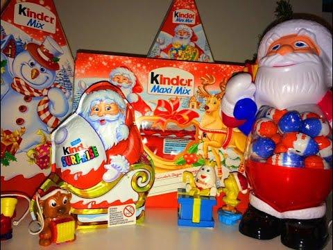 Киндер Cюрприз,Распаковка Подарочных Наборов Kinder Surprise Eggs Maxi Mix 2014 на русском