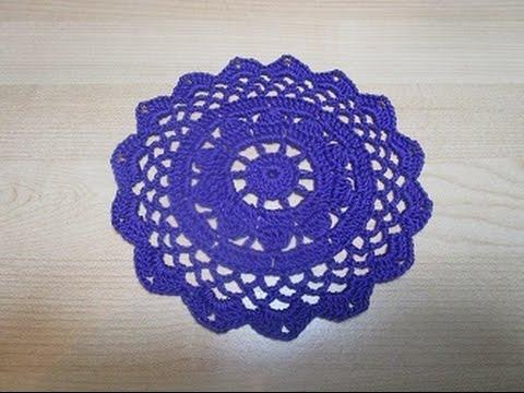 Uncinetto Crochet Centrino Viola Youtube