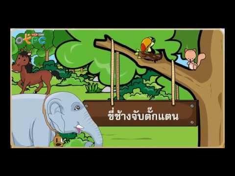 บทร้อยกรอง ขี่ช้างจับตั๊กแตน - สื่อการเรียนการสอน ภาษาไทย ป.3