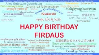 Firdaus   Languages Idiomas - Happy Birthday