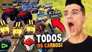 X1 COM TODOS OS CARROS DO MAPA NO FREE FIRE!!!