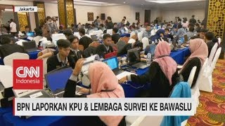 BPN Laporkan KPU & Lembaga Survei ke Bawaslu