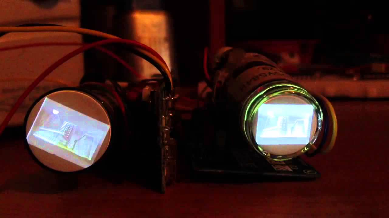 2 Miniature Crt Tubes Composite In