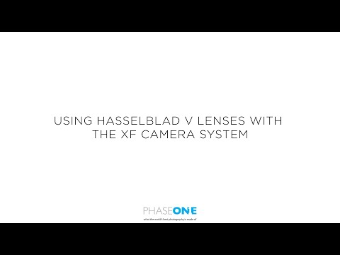 Support | Using Hasselblad V lenses on the XF camera | Phase One
