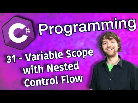 C# Programming Tutorial 31 - Variable Scope with Nested Control Flow thumbnail