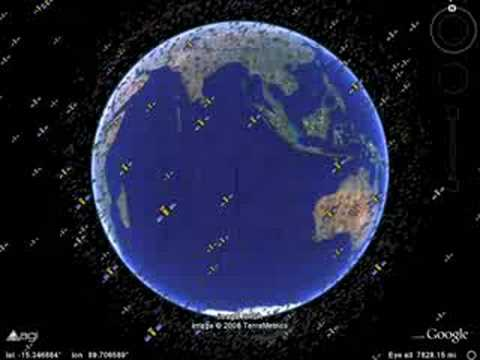 Realtime Satellites In Google Earth YouTube - World satellite map with countries