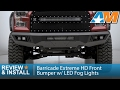 F150 Barricade Extreme HD Front Bumper w/ LED Fog Lights Review & Install 2015-2017