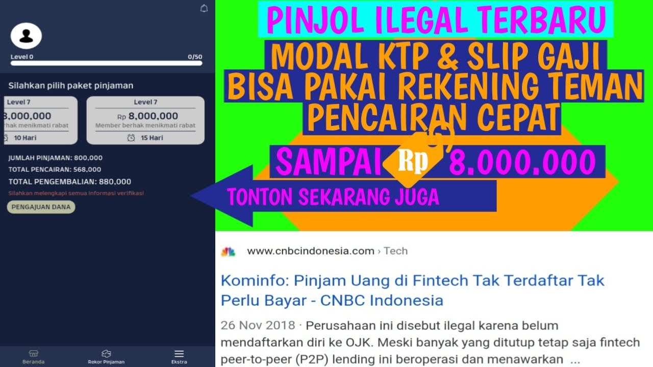Pinjaman Online Cepat Cair Terbaru Modal Ktp Dan Rekening ...
