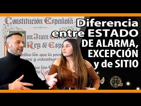 Diferencia entre: ESTADO DE ALARMA, ESTADO DE EXCEPCIÓN y de SITIO
