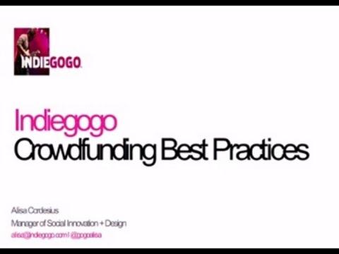 Crowdfunding Webinar with Indiegogo